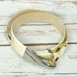 WCM New York Genuine Leather Eggnog Belt